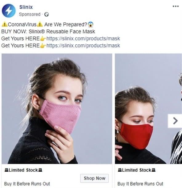 facebook ad covid 19